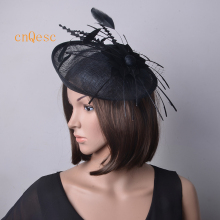 Black ladies base fascinator feather fascinator for wedding kentucky derby Races.(China)