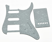 KAISH White Pearl Guitar Pickguard w/ Back Plate and Screws fits Yamaha PACIFICA(China)
