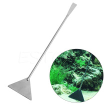 32CM Stainless Steel Aquarium Live plant Fish tank leveler Sand bulldozer shovel Cleaning tool grass waterweed Clipper Shear Kit