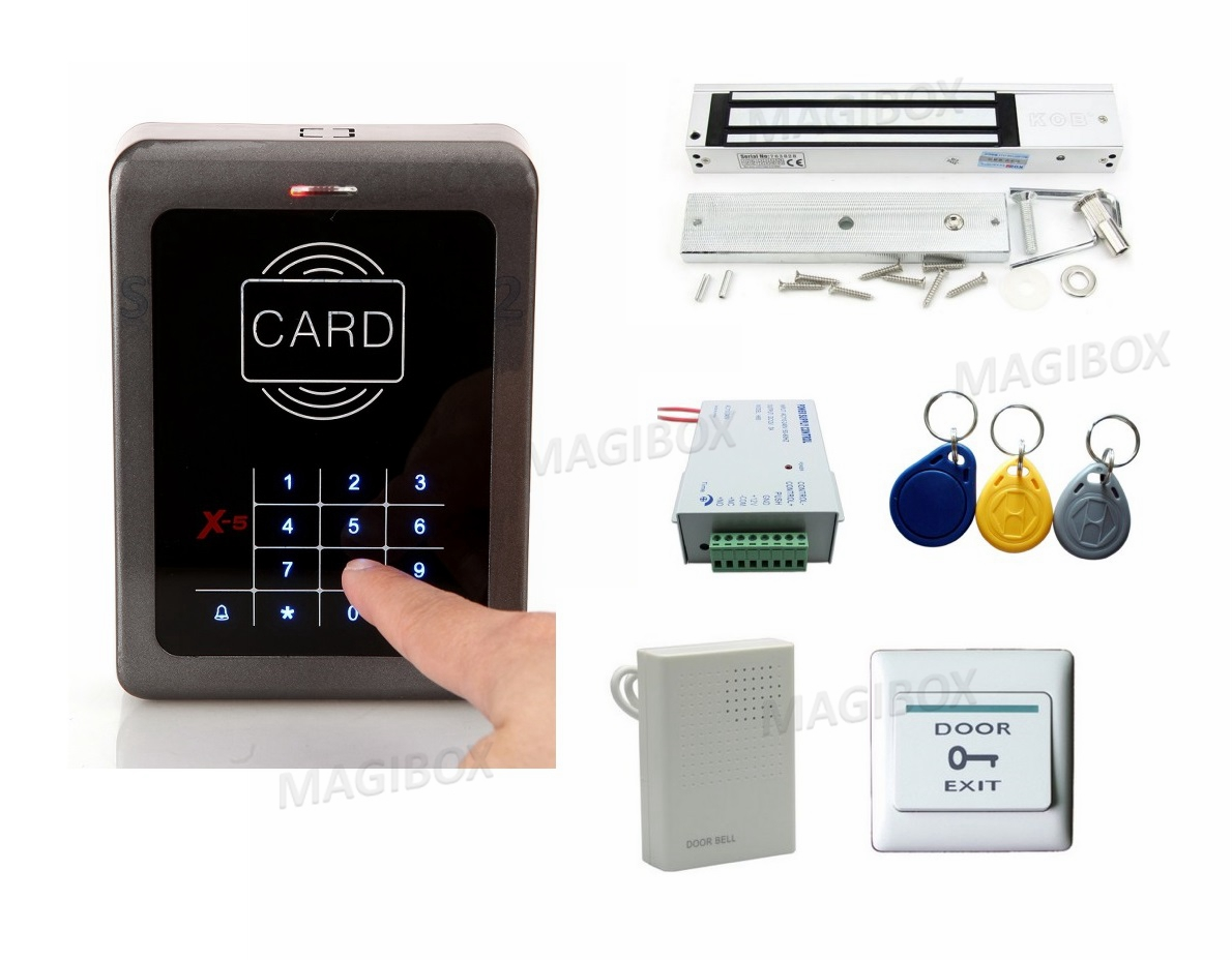 Touch RFID Keypad Access Control kit +Magnetic lock 400Lbs/180kg<br><br>Aliexpress