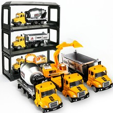 1/64 Die cast alloy car model toy mini Engineering vehicles Fire truck container tanker car-styling toys for children kids gifts