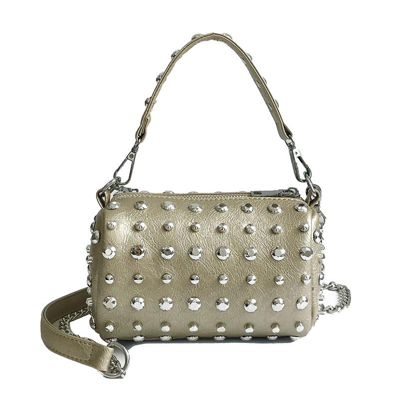 Women's Handbags Boston Bags Ladies Tassel Button Messenger Bags Leather Shoulder Bags Designer Bucket Bag Clutch Metal Pointed 38 Online shopping Bangladesh