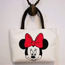 2017 New Women's Handbags Cute Cartoon Pattern Mickey Hello Kitty Tote Fashion Shoulder Messenger Bag Personality Beach Bag