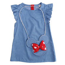 Toddler children clothes casual princess Baby Kids Girl Dress Minnie Mouse Demin Gown Formal Party Dresses Casual Clothes 1-5Y