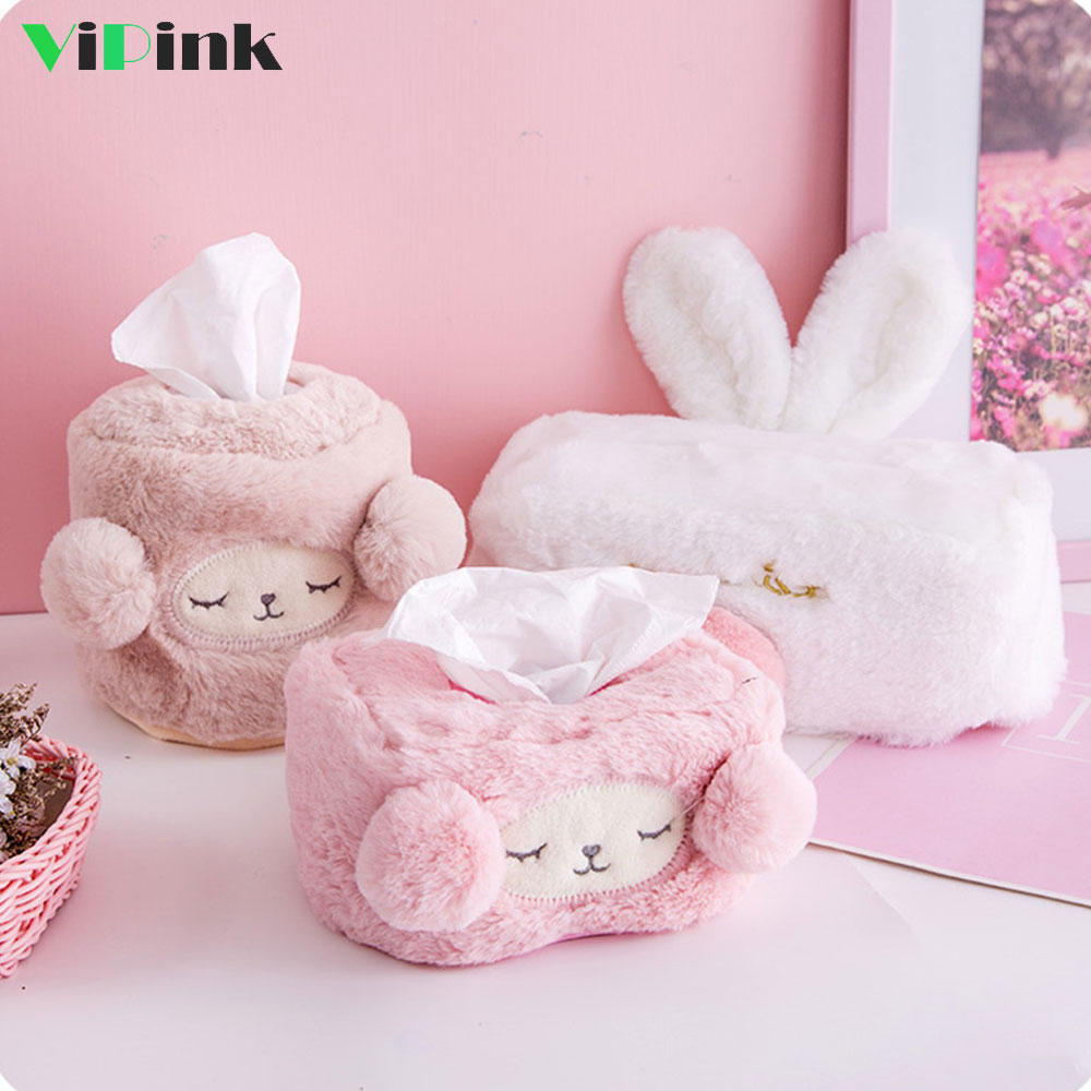 Cartoon Home Bedroom Car Tissue Box Cute Cat Soft Tissue Box Cover Holder
