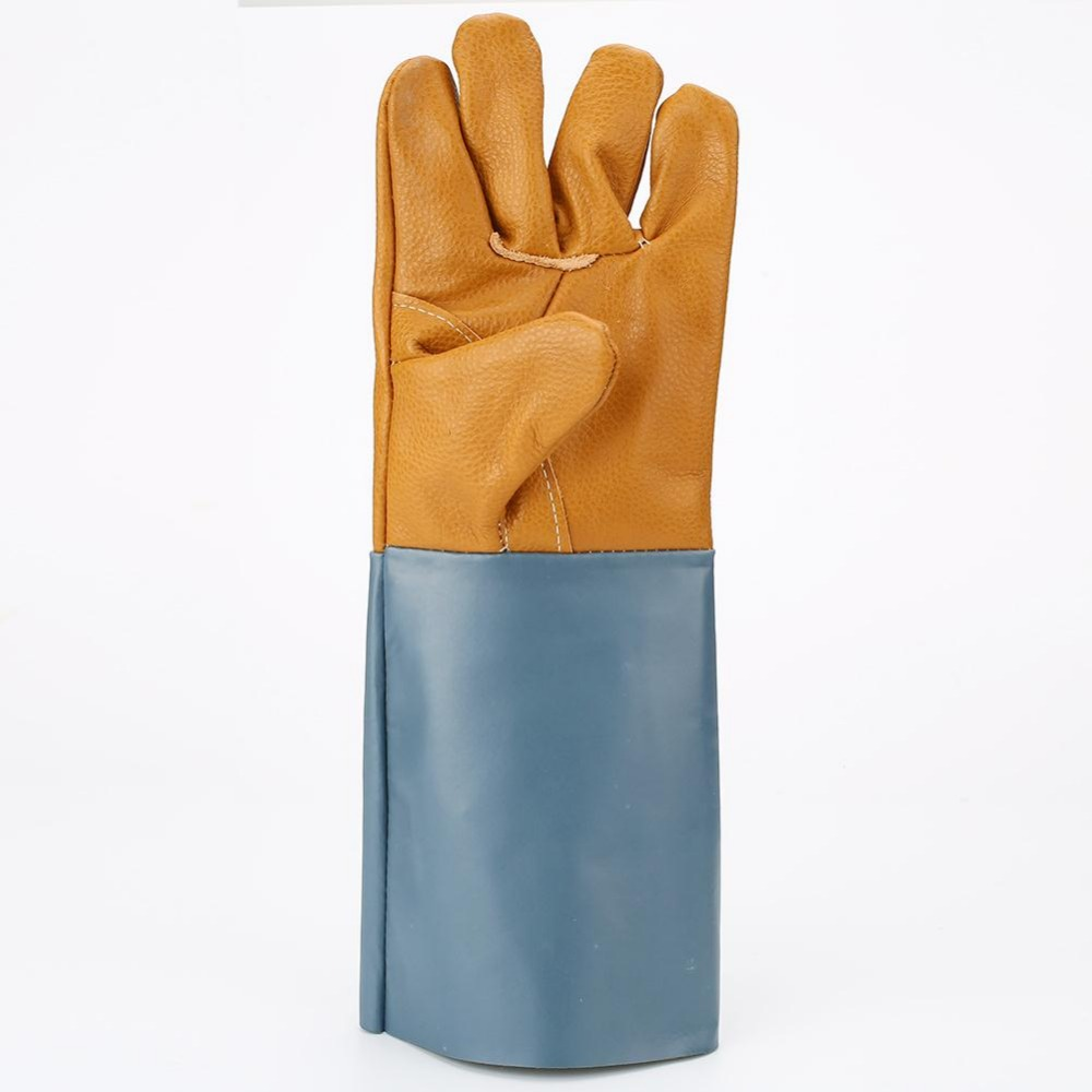 1 pairs Leather welding gloves welders Leather high temperature resistance wear-resistant design work gloves male female gloves<br><br>Aliexpress