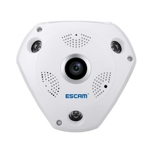 ESCAM Shark QP180 960P IP VR Camera WiFi Network Fisheye 360 Wi-Fi Cameras Surveillance CCTV Cam support VR BOX and sd card(China)