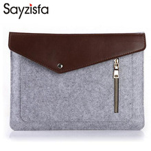 Sayzisfa 2017 Men Waterproof File package Man Notebook Case Briefcase Pouchfor Macbook Air Pro 11 13 15 inch Felt Sleeve Bag T84