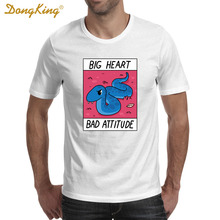 Newest Creative Design BIG HEART BAD ATTITUDE Printed T shirts Men's Women's Fashion Short Sleeve T-shirt Funny O-neck Cool Tee