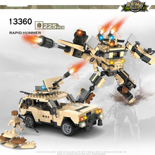 COGO Deformation Mech Educational Building Blocks Toys For Children Kids Gifts Jeep Robot(China)