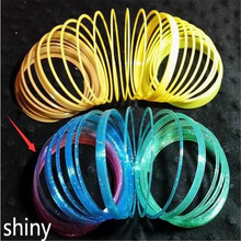 2pcs New Delicate Kids Magic Plastic Slinky Rainbow Spring Toy Colorful Children Funny Classic Educational Toy Christmas Gift(China)
