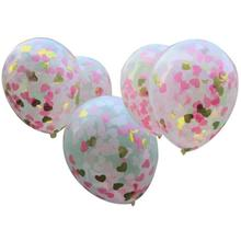 5Pcs 12inch Transparent Confetti Party Balloon Blasting Balloons for Romantic Valentines Day Wedding Party Layout Decoration L50(China)