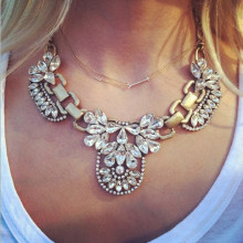2014 new fashion Dickie Crystal necklaces & pendants woman's Necklace! 4ND06(China)