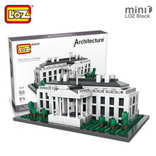 Mr.Froger LOZ The White House Mini Block World Famous Architecture Series USA Presidential Palace Building Models Classic Toys(China)