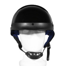 Unisex DOT Motorcycle Helmets Bright Black Half Face Helmet Chopper Cruiser Travel Scooter Biker Head Protection Safely Cap