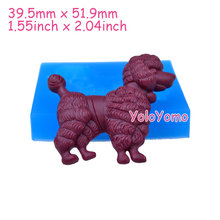 D333YL 51.9mm Big Dog Silicone Mold - FOOD SAFE Cake Decorating Fondant Chocolate Candy Resin Polymer Clay Flexible Push Mold