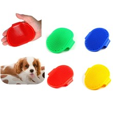 New Round Soft Rubber Pet Brush Glove for Hair Grooming Bathing Cleaning Massage Handy Pet Brush Comb Pet Supplies