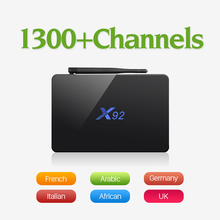 X92 Android 6.0 Smart TV Box Amlogic S912 Octa Core Dual Band Wifi 4K H.265 IPTV Box with Free QHDTV IPTV Europe Arabic France