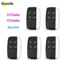 5pcs/lot 5 BUTTON SMART REMOTE KEY FOB 315mhz 434Mhz for Land Rover Range Rover Sport Evoque Vogue LR4 KOBJTF10A PCF7953 chip(China)