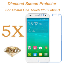 For alcatel one touch idol 2 mini s shinning diamond glitter screen protector idol 2 mini s sparking screen protective film