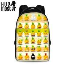 HUE MASTER 17 inch smiley pattern latest style school backpack youth boys and girls laptop bag can store 15 inch computer