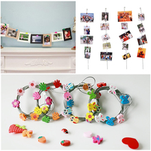 1.5M Magnetic Photo Frams For Picture Rope Garland Vertical Hanging Photograph Clips Home Wedding Decoration