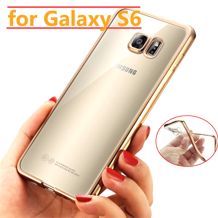 Phone font b Case b font For font b Samsung b font Galaxy S6 Thin Clear