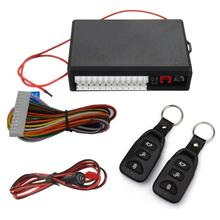 Newest Car Alarm Systems Auto Remote Central Kit Door Lock Vehicle Keyless Entry System Central Locking with Remote Control(China)