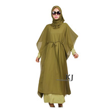 2017 muslim women dress djellaba casual abaya plus size caftan cotton long dress turkish Arab traditional clothing