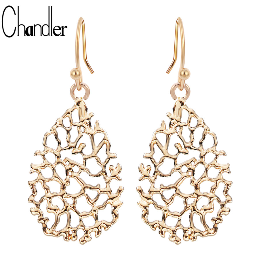 Chandler Tassel Hollow Pineapple Dangling Earrings Lovers Gifts Fashion Accessaries Statement Jewelry Engagement Wedding Luxury