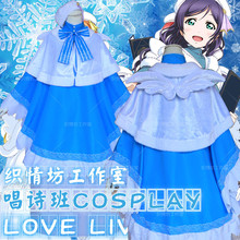 Love Live Nozomi Tojo Cosplay Costume Christmas Choir Service Full Set Uniform Dress+Coat+Cape+Hat+Wing+Bowknot(China)