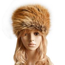 Fashion Russian Lady Faux Rabbit Fur Knitted Cap Women Winter Warm Beanie Hat Female Fur Caps Ladies Headgear Gorra F1