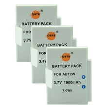 DSTE 3PCS ABT2W Rechargeable Battery for Flip Ultra HD Video 8GB 4GB Digital Camera(China)