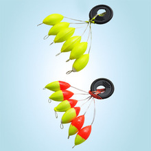 [10set=60pcs] New Seven-star Oval mini fishing float Space beans Easy Use Floater are put on the like a stopper and be fixed(China)