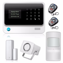G90B Wi-Fi GSM GPRS SMS Call  House Security Alarm System wifi Personalise Alarm System IOS Android APP Control anti-pet sensor