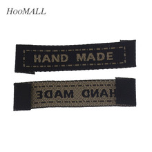 Hoomall Brand 100PCs Black Handmade Letter Cotton Fabric Woven Labels Sewing Accessories Cotton Clothing Label