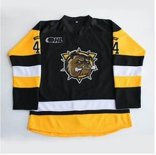 hamilton bulldogs #44 MacKenzie Entwistle Hockey Jersey Embroidery Stitched Customize any number and name Jerseys(China)