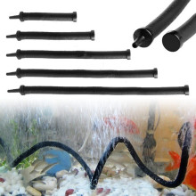 Aquarium Rubber Coated Flexible Air Pump Stone Curtain Bubble Wall Tube Hose line Pipe Diffuser Aerator Fish Tank Accessories(China)