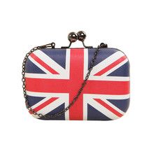 2016 New Women handbag feather bags UK England British Flag bag tote women messenger bag bolsa feminina