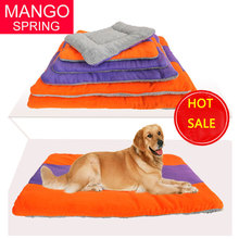 2017 Winter Warm Large Size Thicken Dog Beds Soft PP Cotton Splicing Color Breathable Pet Beds Double Side Pets Mats