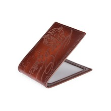 TERSE_10 MOQ handmade high quality license card holder engraving service id card wallet 8 colors in stock factory price