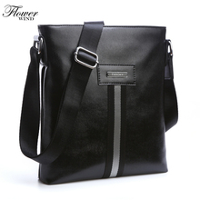 FLOWER WIND Brand PU Leather Men Bags Fashion Male Messenger Bags Men's Small Briefcase Man Casual Crossbody Shoulder Handbag