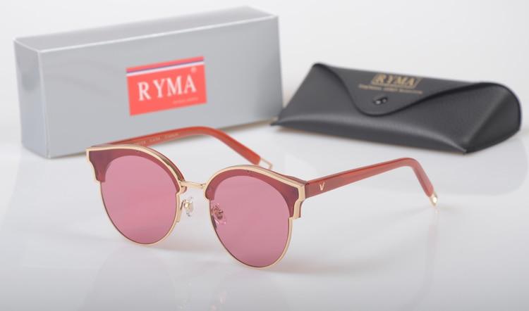 2017 New Luxury Round Sunglasses Women Brand Designer Retro Vintage Sun Glasses For Women Men Lady Female Sunglass UV400 lens
