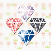 1 PC Diamond Shaped Acrylic Badges Kawaii Badge Icons on The Backpack Badges for Clothing Pin Brooch Female(China)