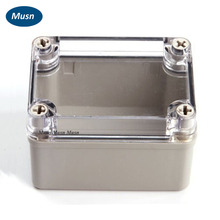 80*110*70mm IP66 transparent cover electronic plastic enclosure ABS PC Clear Cover box junction box project box(China)