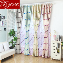 Fringe Curtains Printed Sheer Voile Curtains Window Modern Living Room Curtains Tulle Drapes Rideaux Custom Made Fabric X182 #20