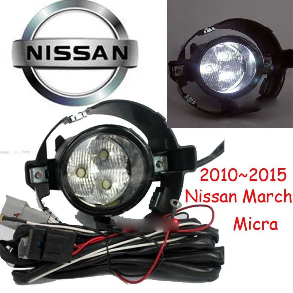 car-styling,March LED light,2010~2015,Free ship!2pcs,March fog light;car-covers,March headlight,car covers,Chrome<br><br>Aliexpress