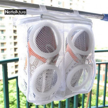 Hot High Quality Portable Home Large-Capacity Shoes Washing Protect Bag Hanging Dry Shoe Organizer Mesh Wash Shoes Storage Bags(China)