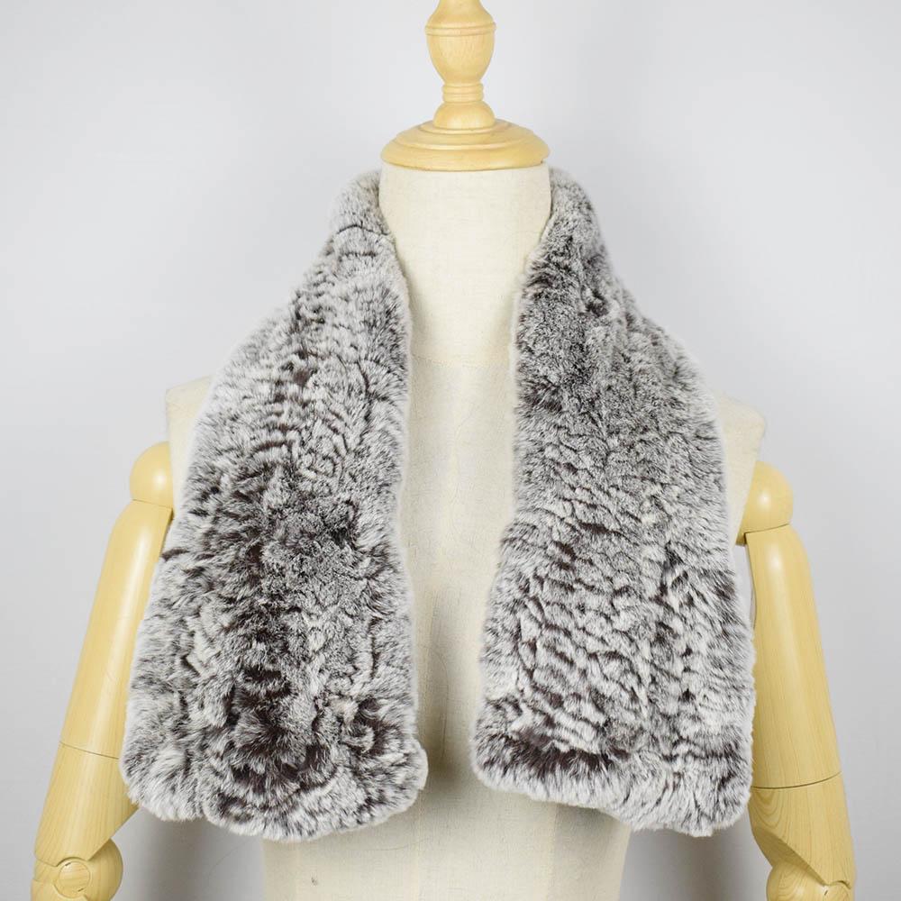 rex rabbit fur scarf short 5