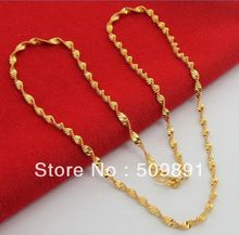 NE1550 3mm Twisted Singapore Chain Neclace for Women Fashion Jewelry 24k Gold Vacuum Wedding Engagement Bijouterie